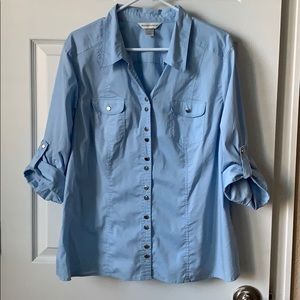 Christopher and Banks button down blouse XL